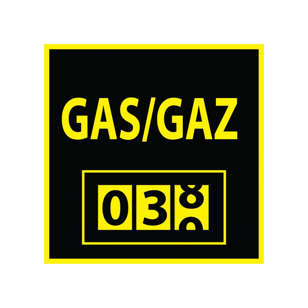 Gasmeter Sticker