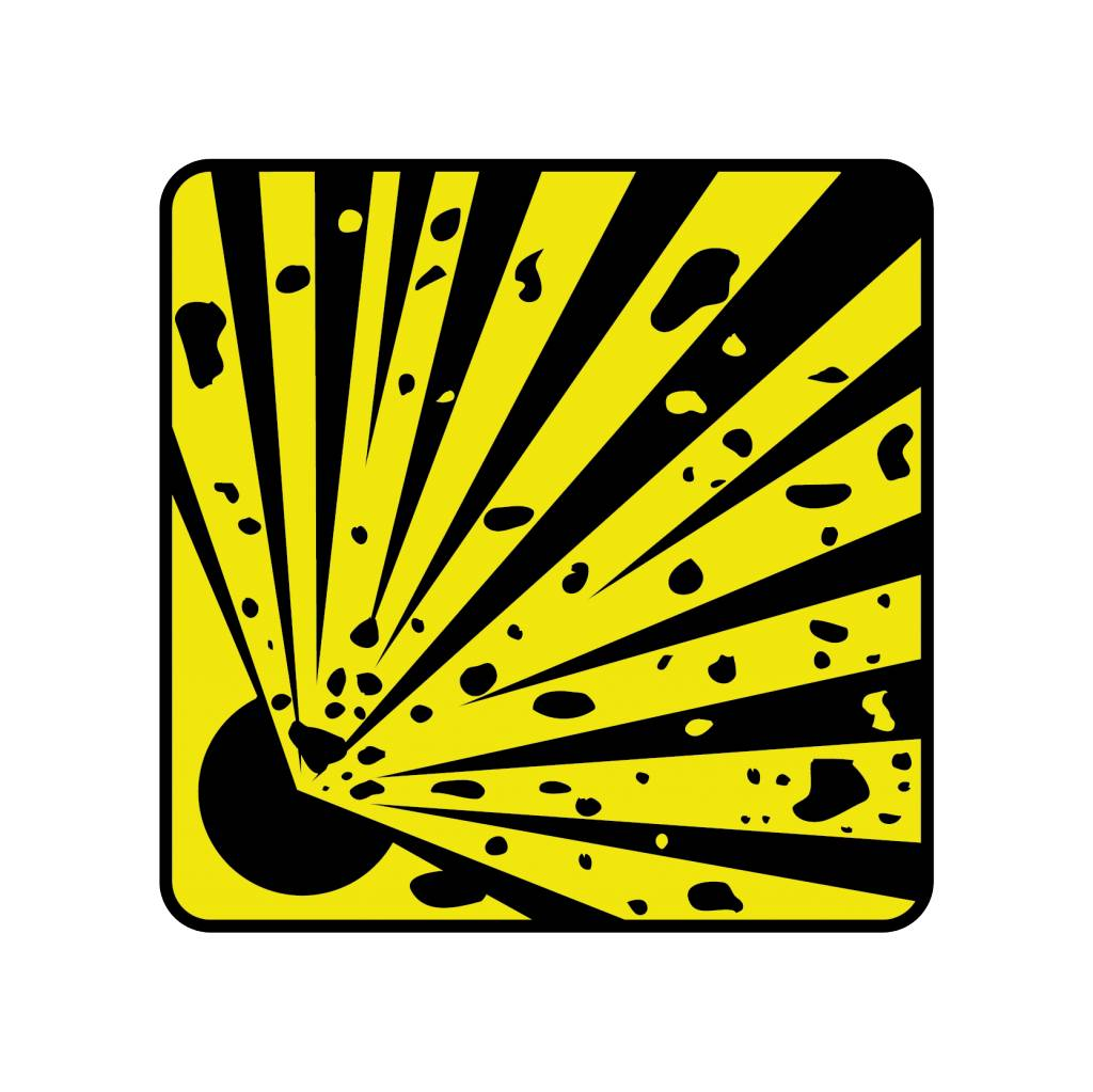 Explosion danger 1 Sticker