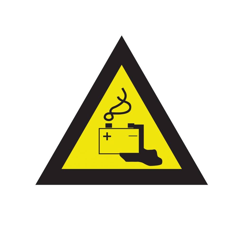 Gefahren durch Batterien Aufkleber