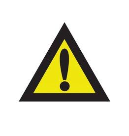 Opgelet gevaar sticker