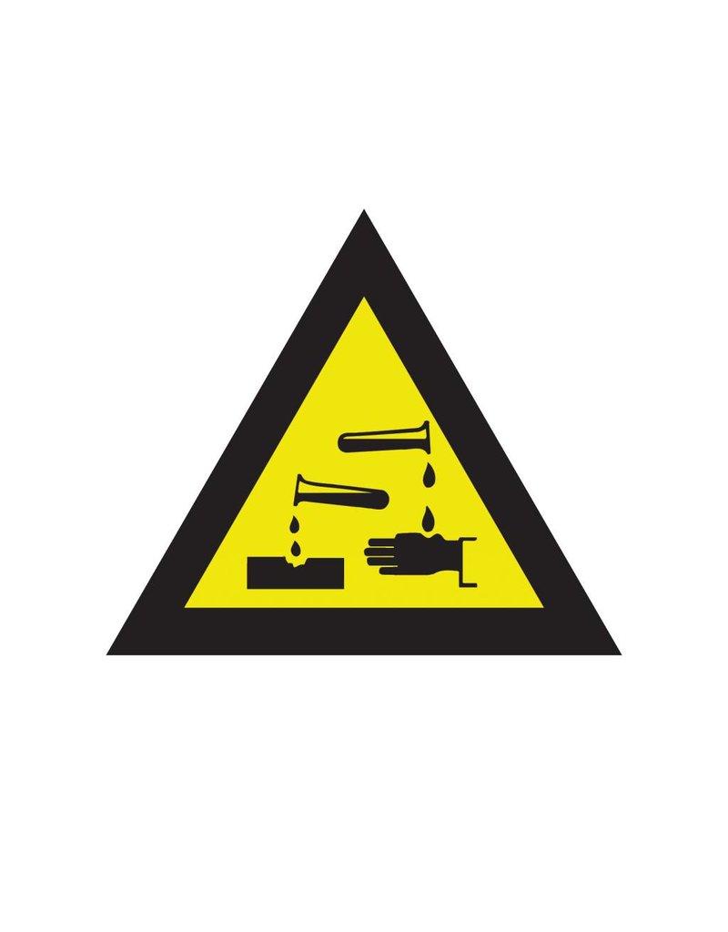 Bijtende (corrosieve) stoffen sticker