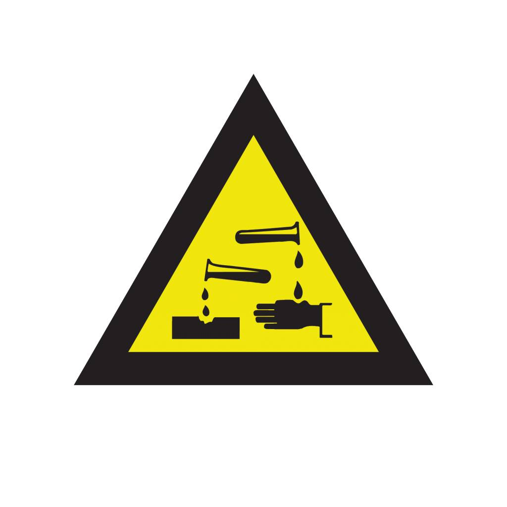 Caustic (corrosive) substances sticker