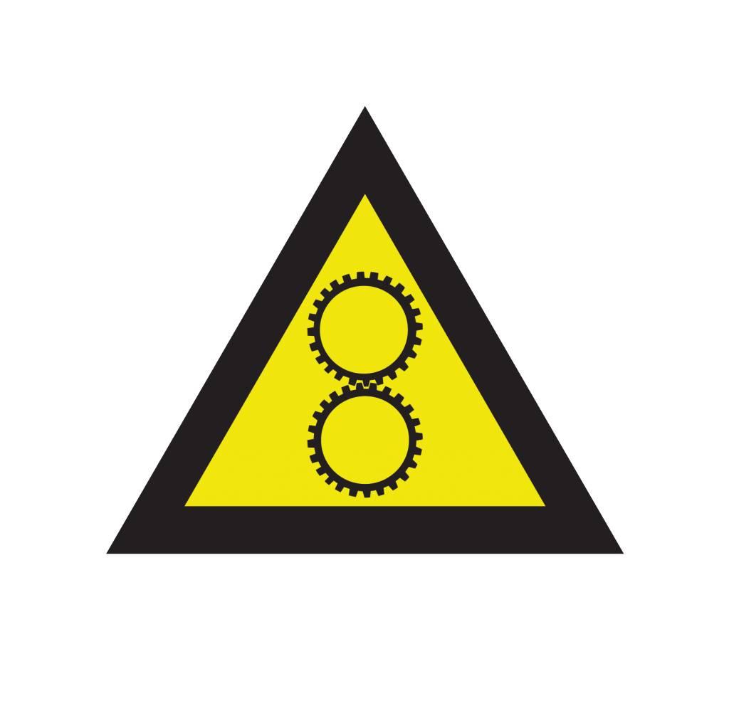 Warnung vor Einzugsgefahr Aufkleber