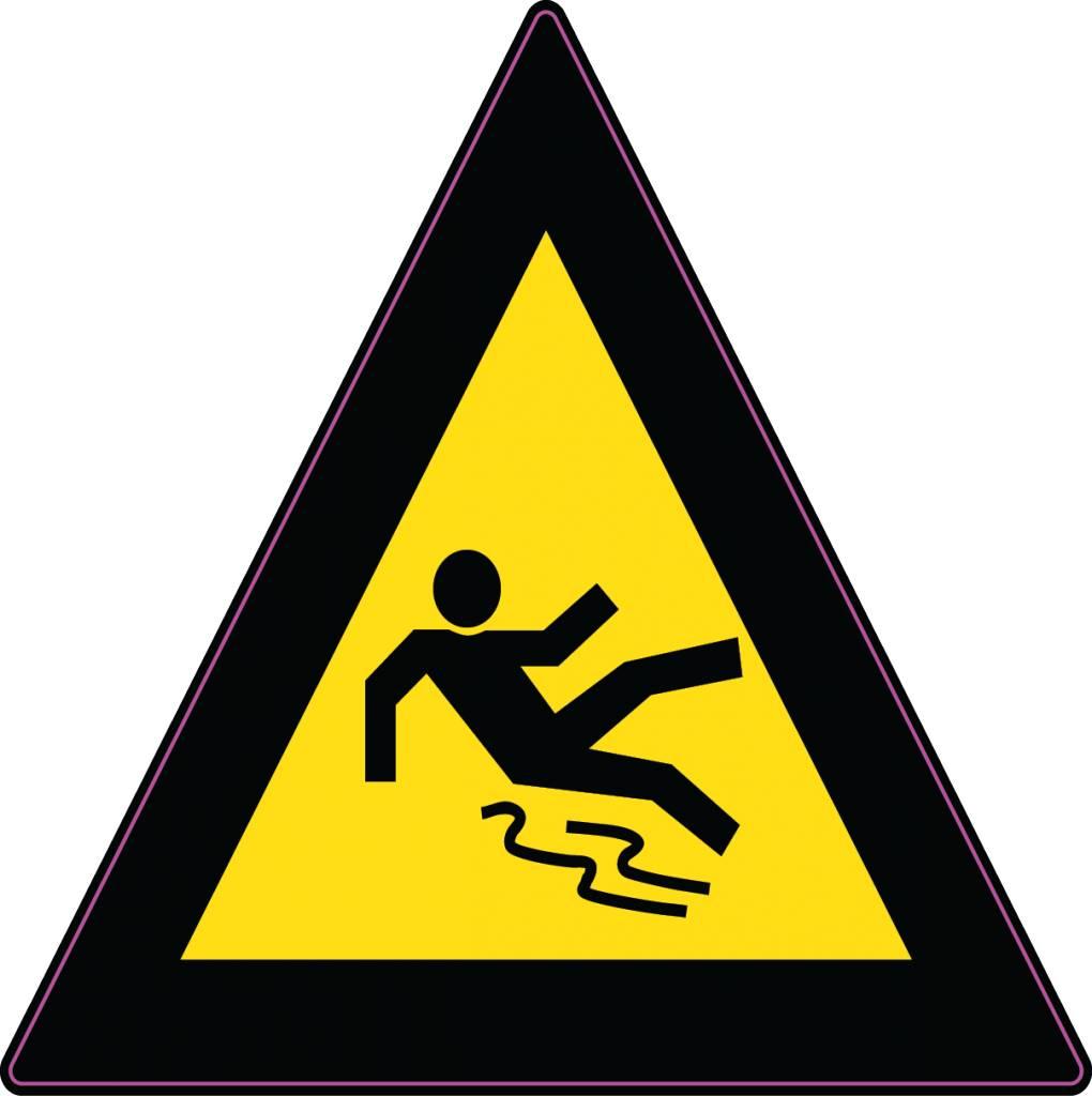 Méfiez-vous de glisser autocollant