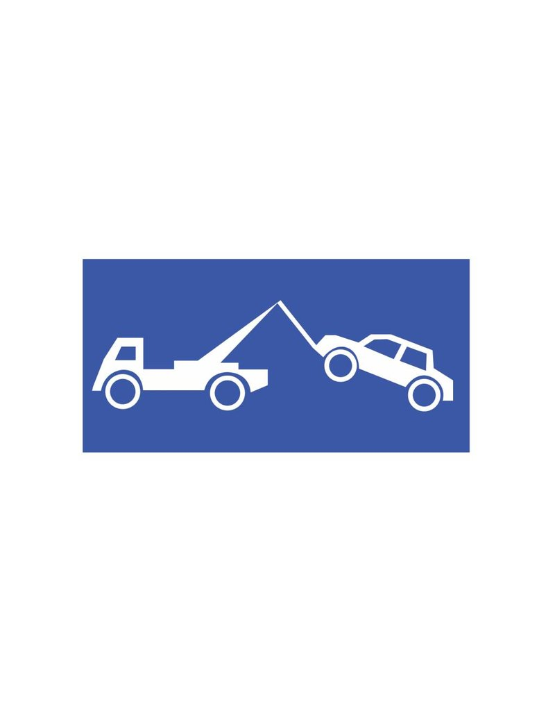 Towing Car sticker