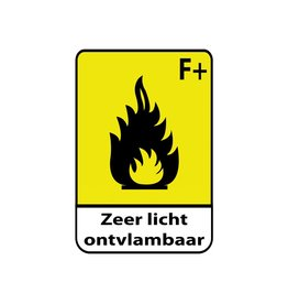 Extrêmement inflammable F+1 Autocollant