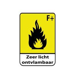 Pegatina fácilmente inflamable F+1