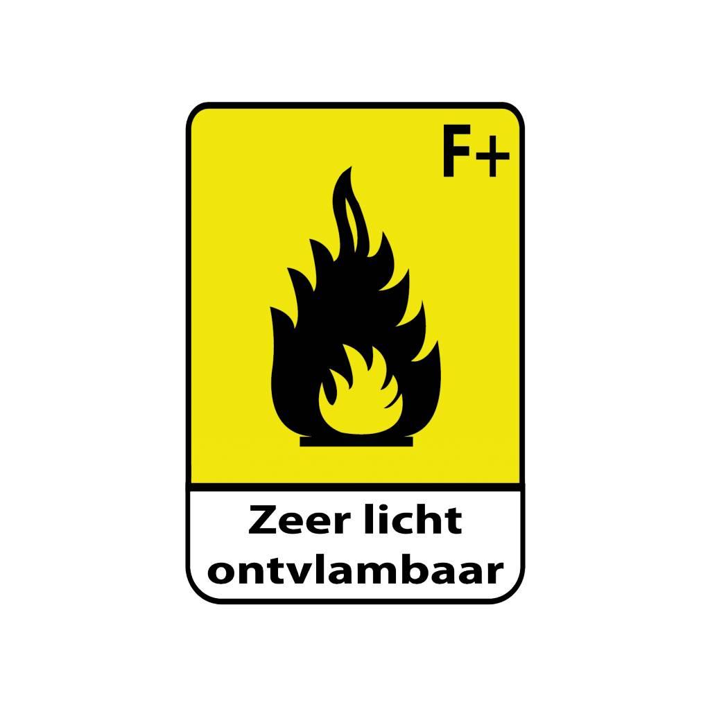 Sehr leicht entflammbar F+ Text Sticker