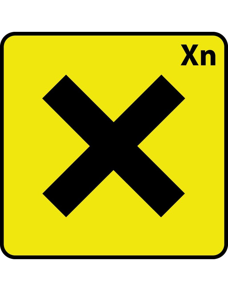Schadelijk Xn Sticker