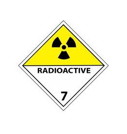 7 radioactifs autocollant jaune