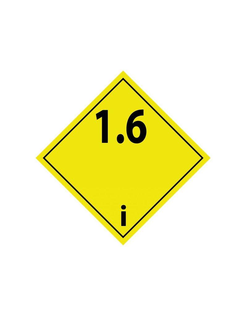 Ontplofbare stoffen 1.6 Sticker