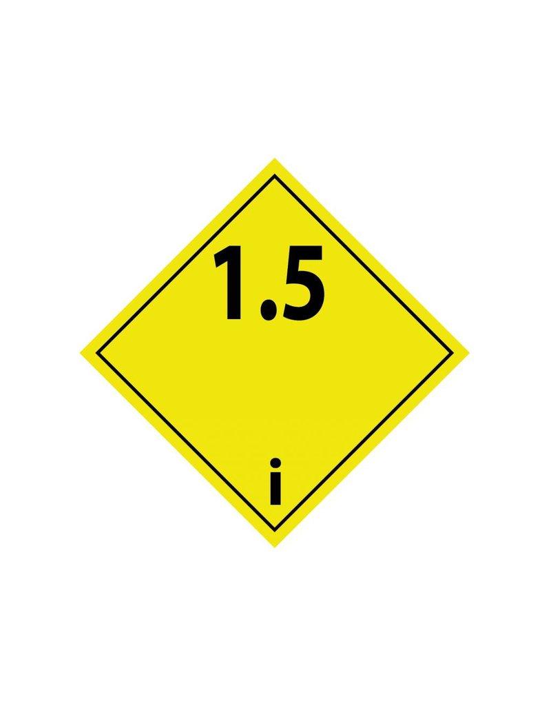 Ontplofbare stoffen 1.5 Sticker