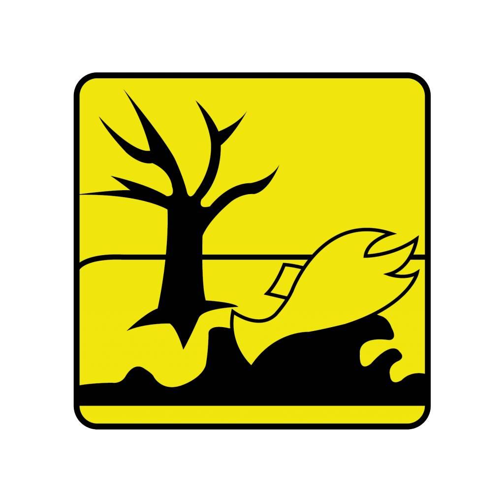 Schadelijk voor het milieu Sticker