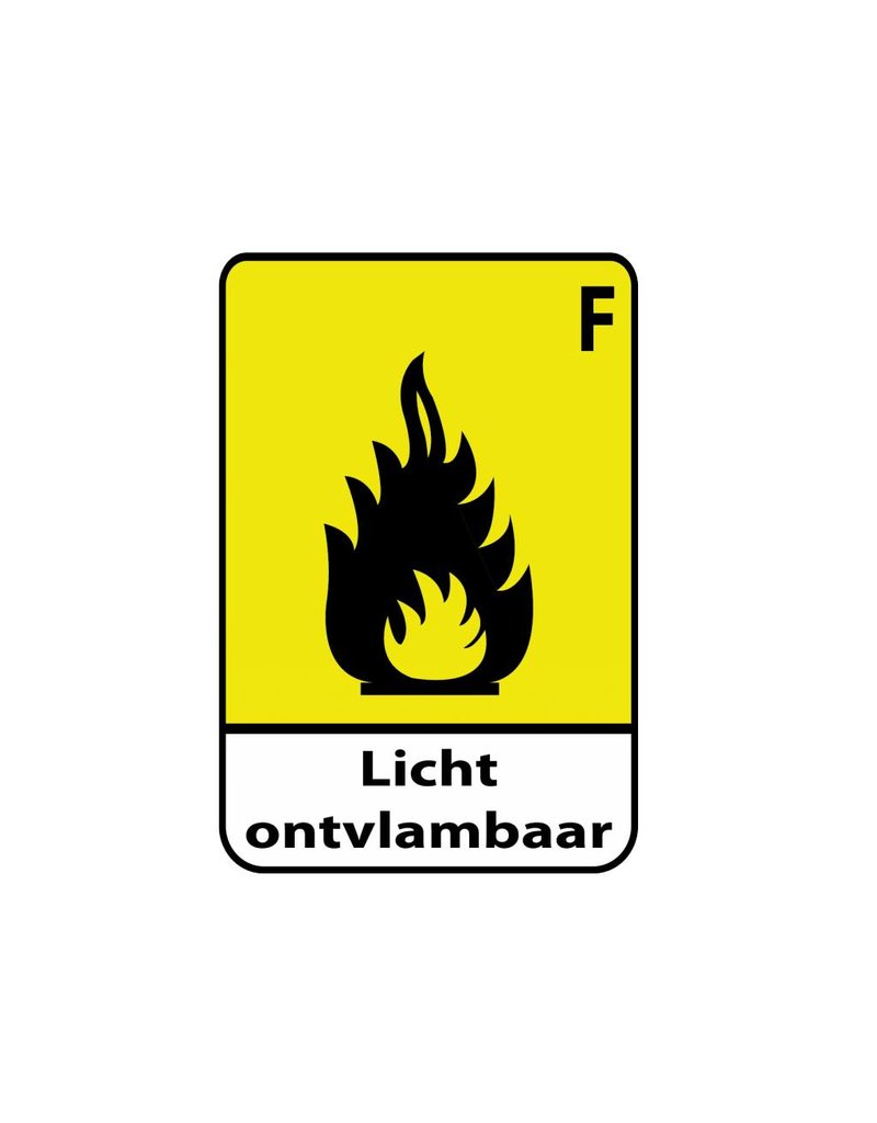 Inflammable F1 autocollant