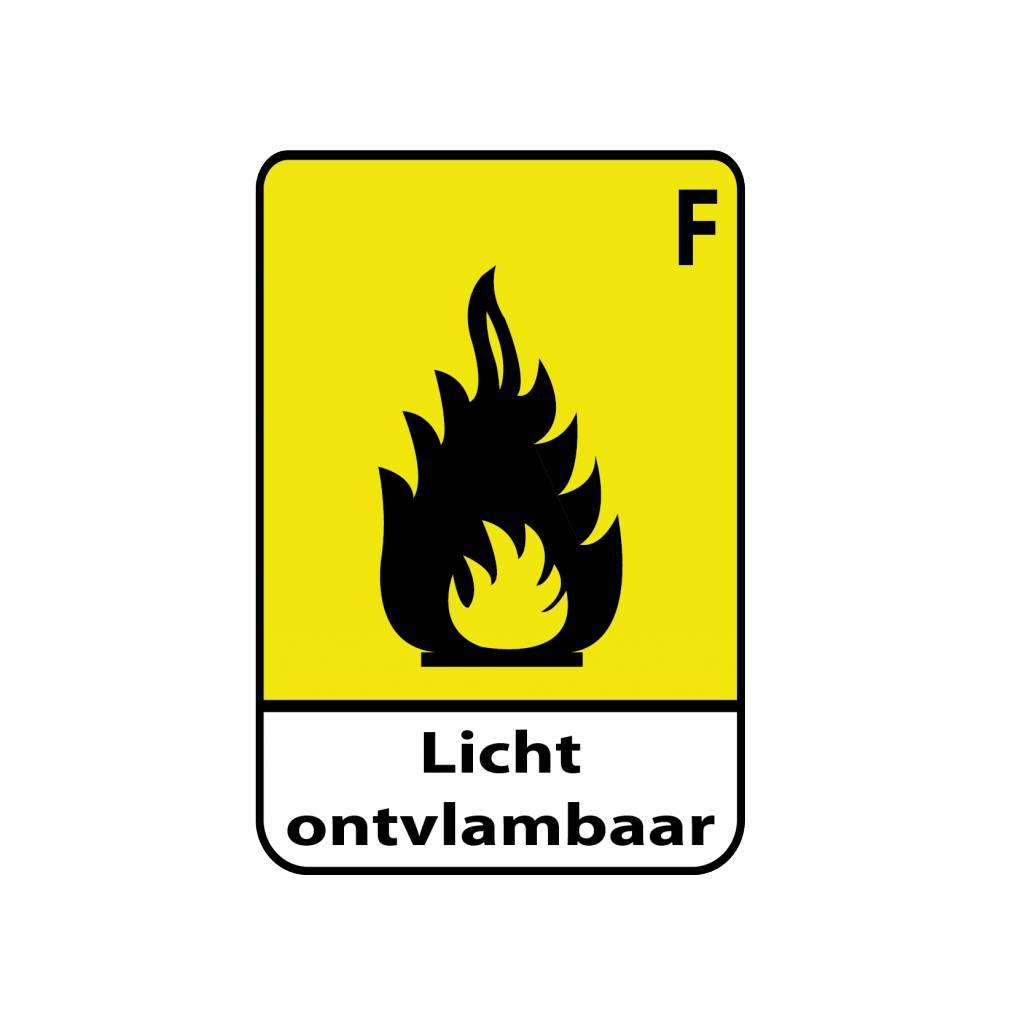 Licht ontvlambaar F1 Sticker