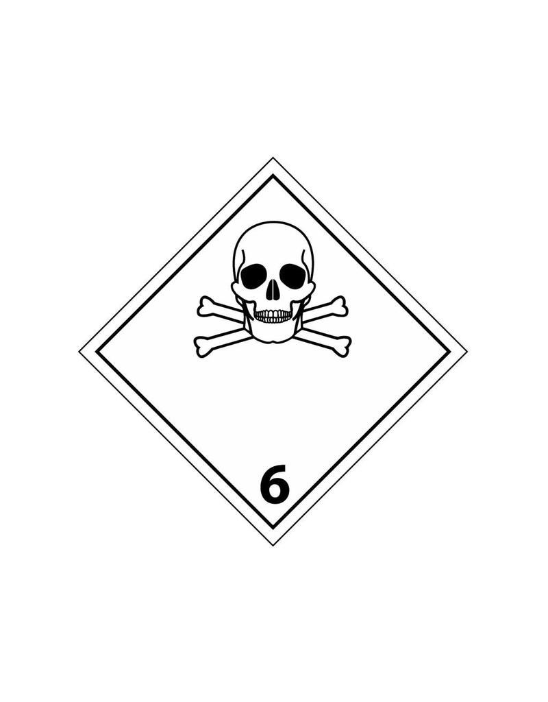 Giftige Stoffe 6 Aufkleber