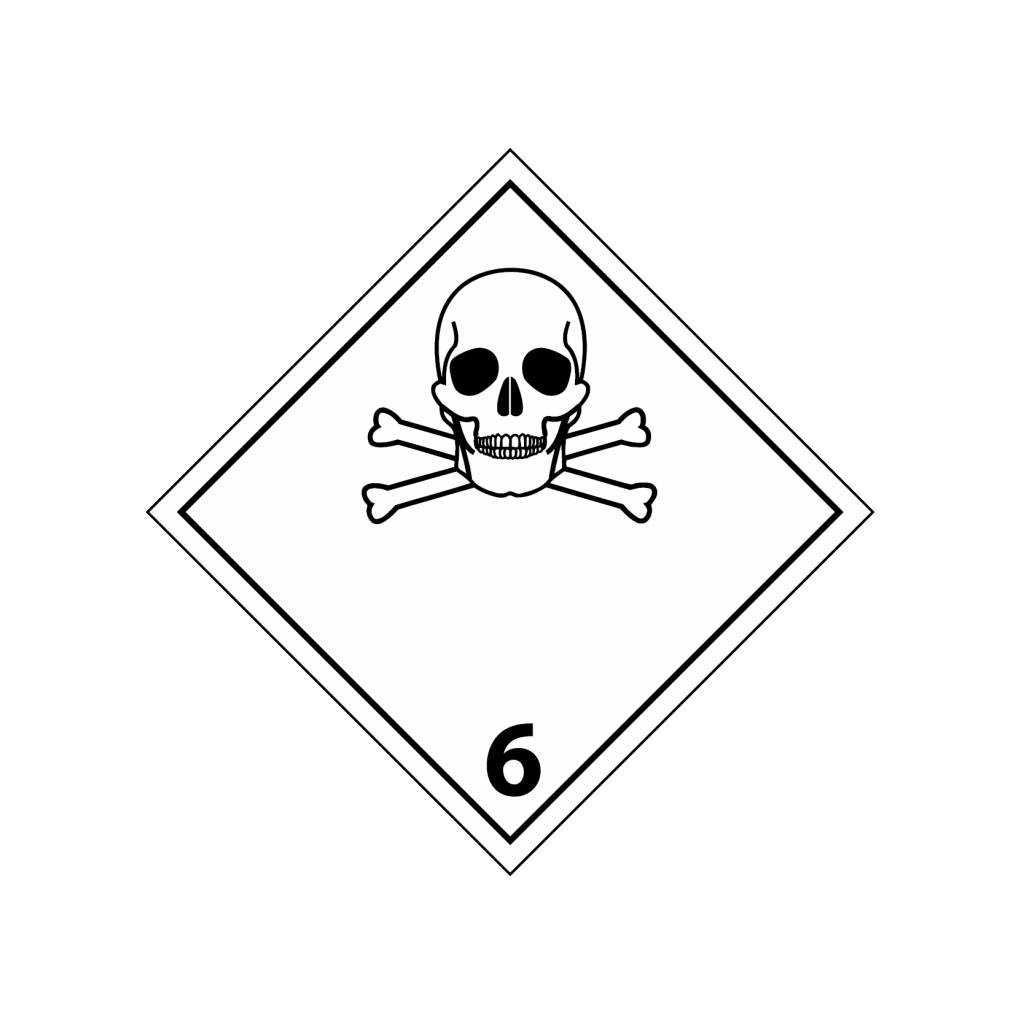 Toxic gasses 6 Sticker