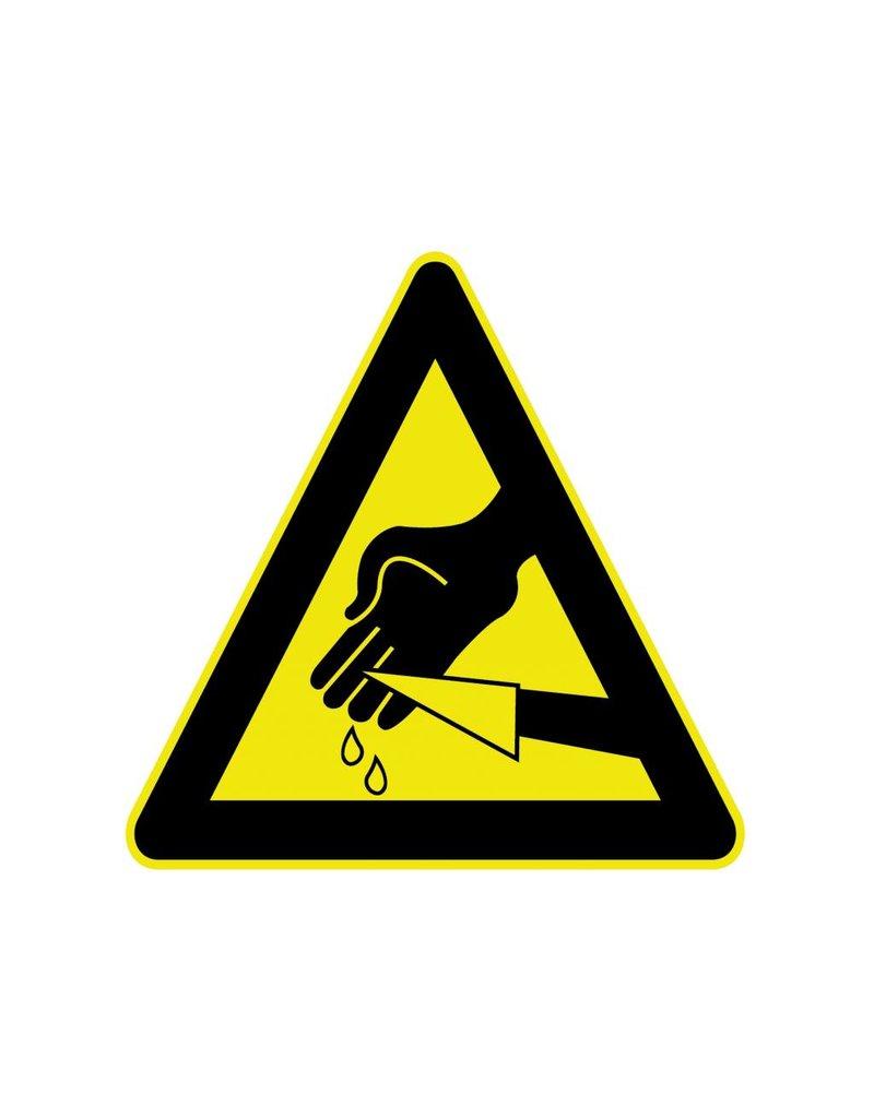 Handen snijden Sticker