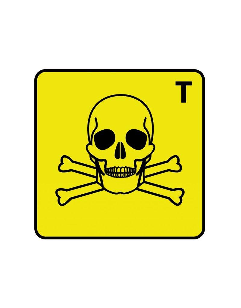 Giftig T Sticker