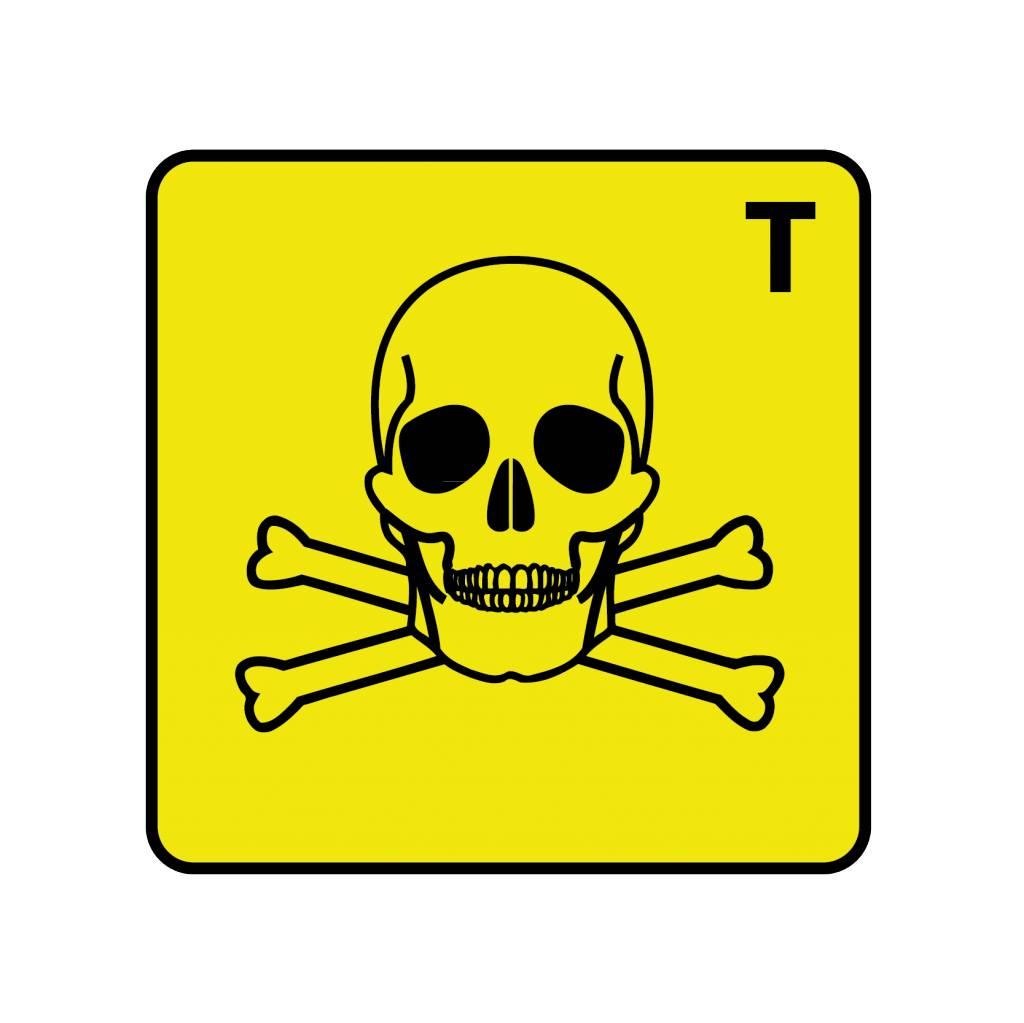 Giftig T Aufkleber