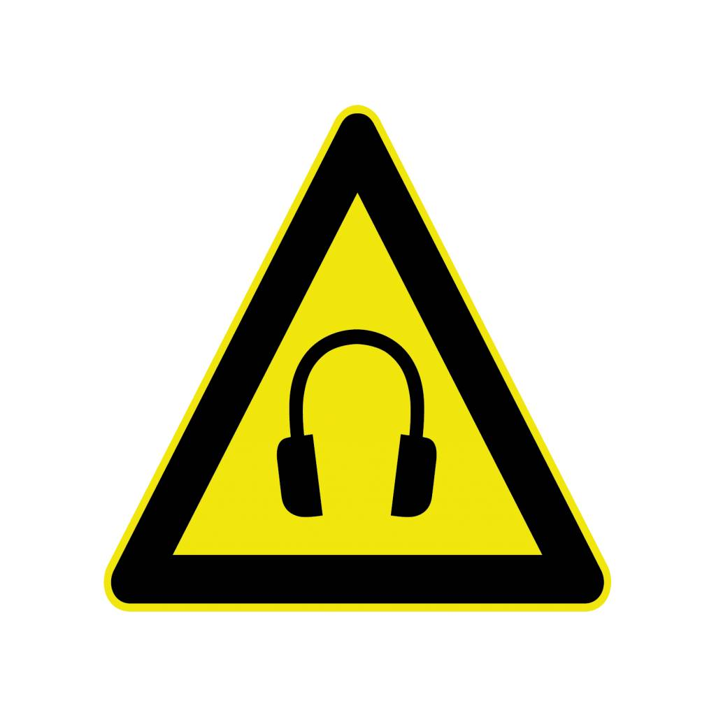 Hearing protection Sticker