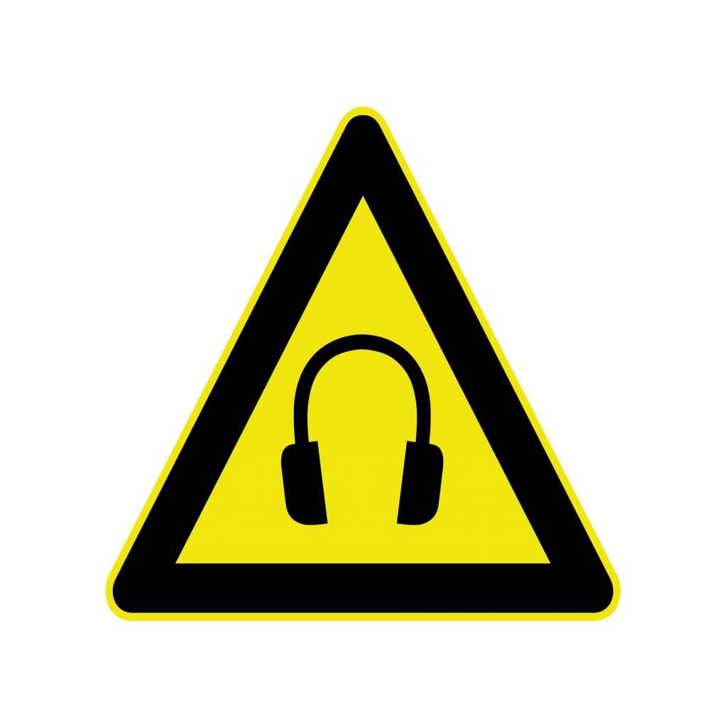 Protección auditiva pegatina