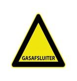 Gas afsluiter Sticker