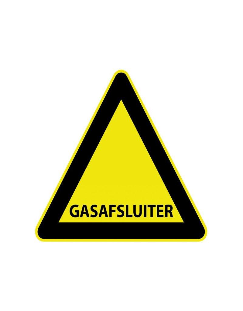 "Autocollant ""Gas afsluiter"""