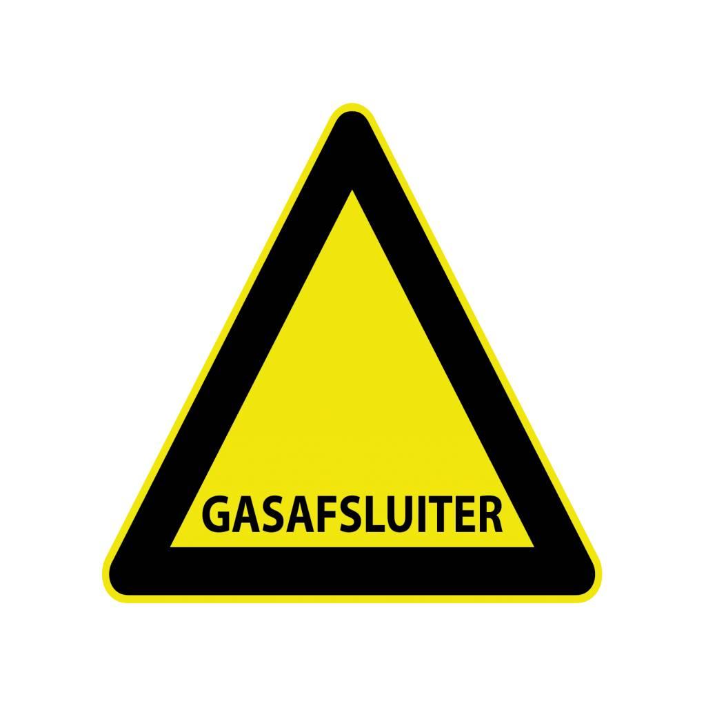 Pegatina espita del gas