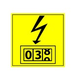Electricity Meter Sticker