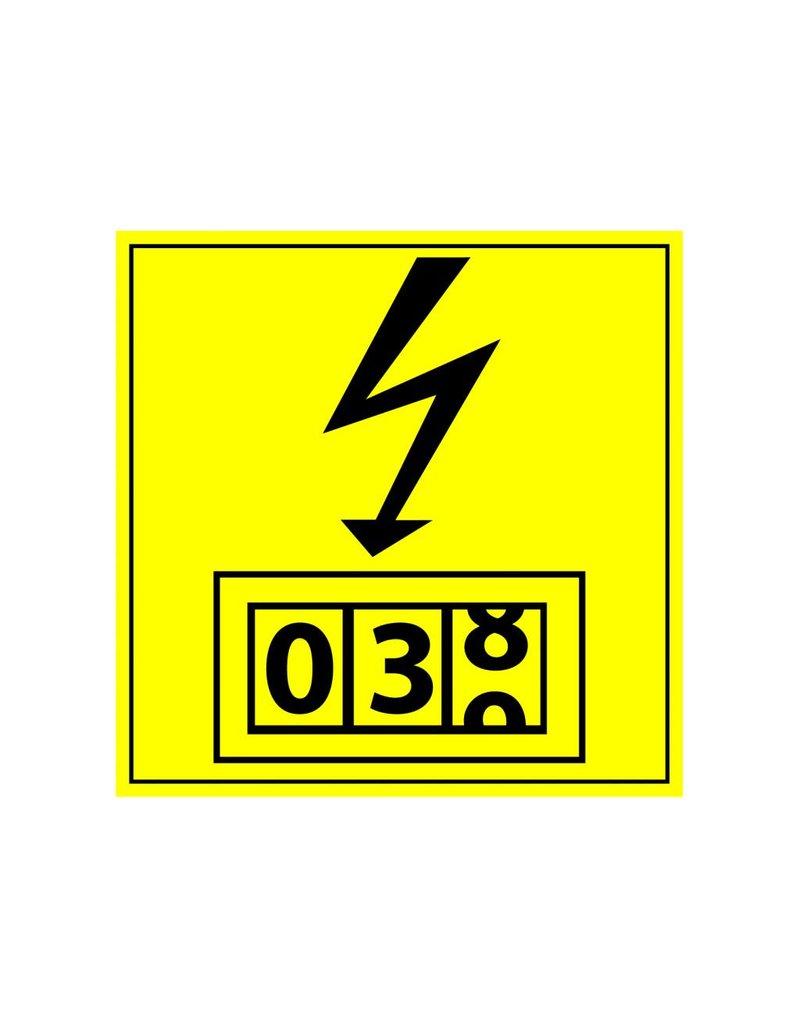 Electricity Meter Sticker
