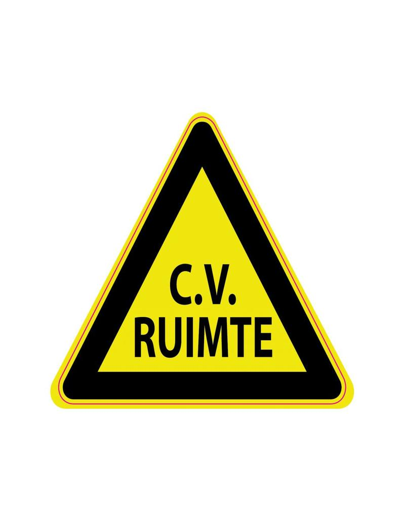 cv ruimte sticker