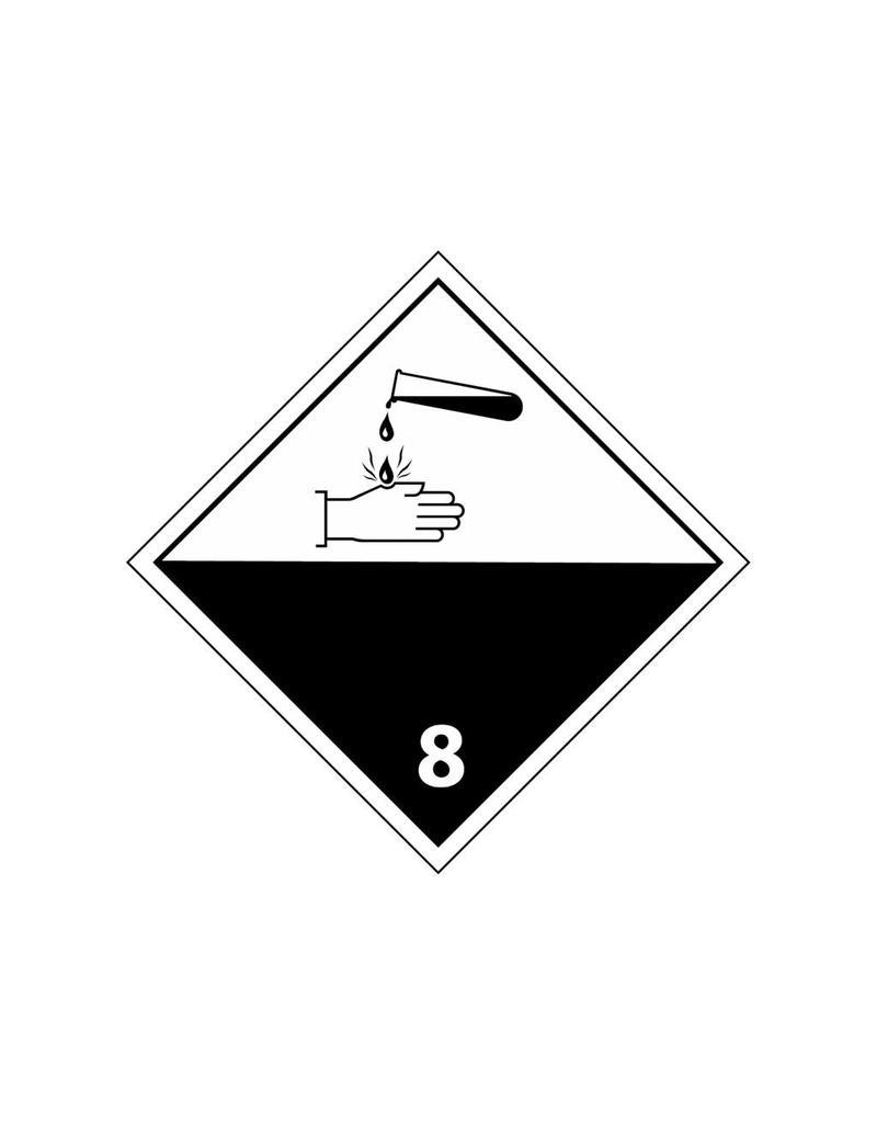 Autocollant produits chimiques corrosifs