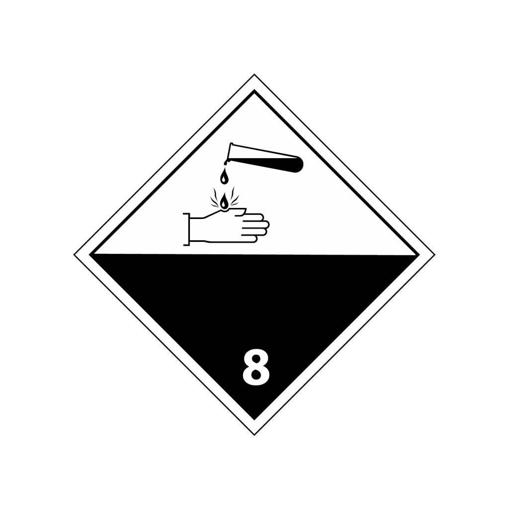 Pegatina sustancias corrosivas
