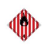 Brandbare vaste stoffen Sticker