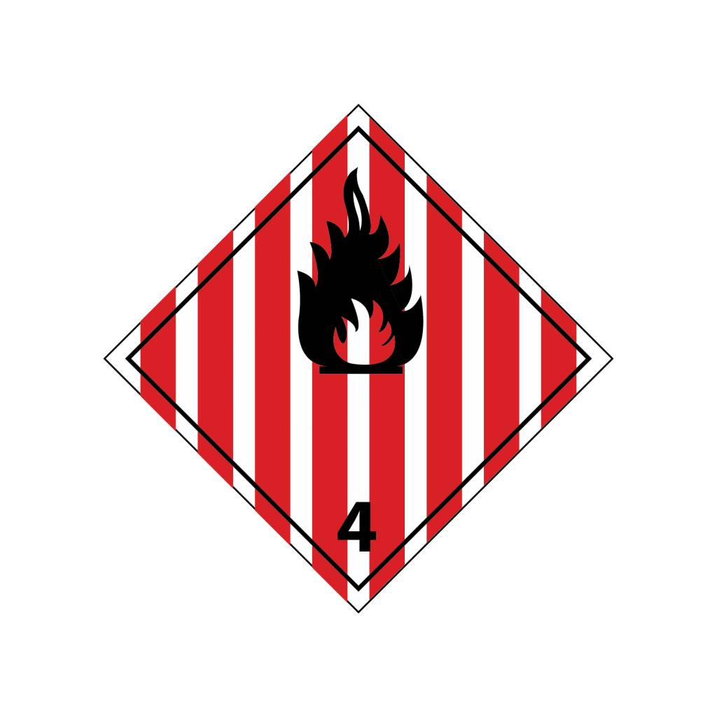 Flammable solid substances Sticker