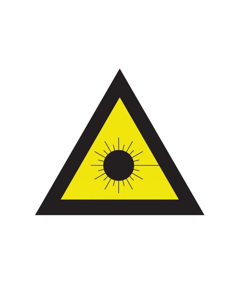 Laser beam sticker