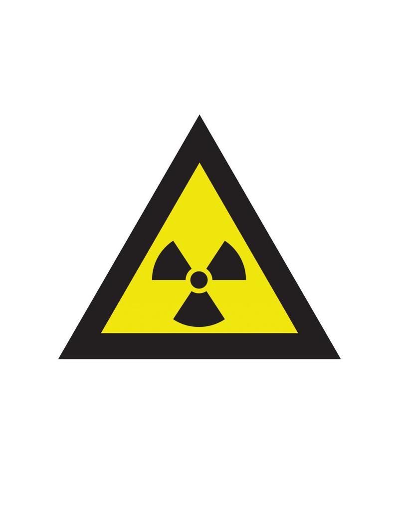 Pegatina símbolo de la radioactividad