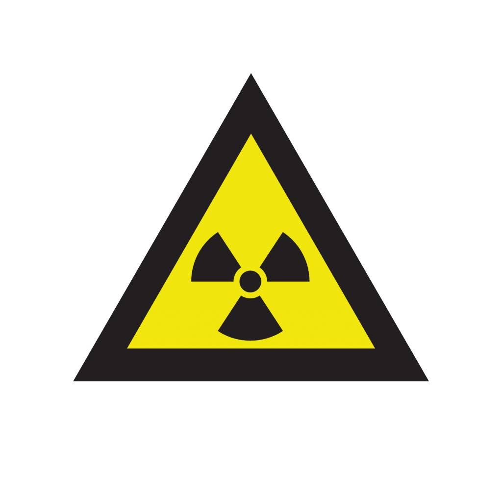 pegatina símbolo de la radioactividad dr pegatina