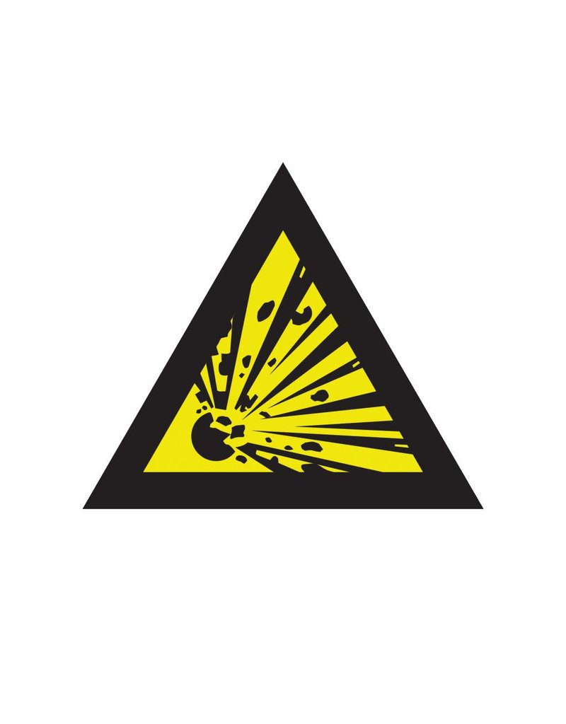 Explosive substances sticker