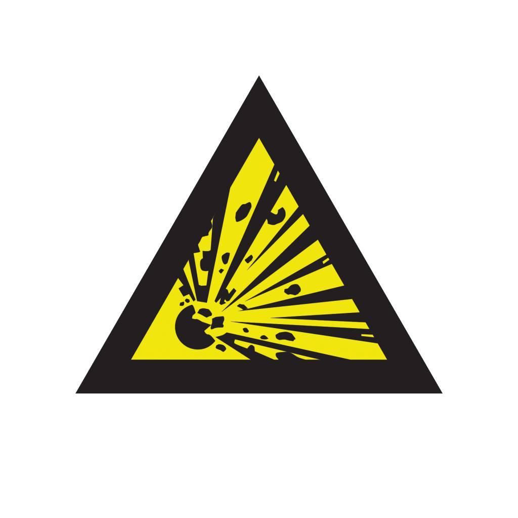 Explosionswarner mitführen Auskleber