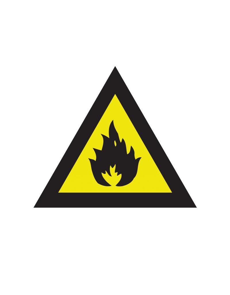 Substances inflammables autocollant