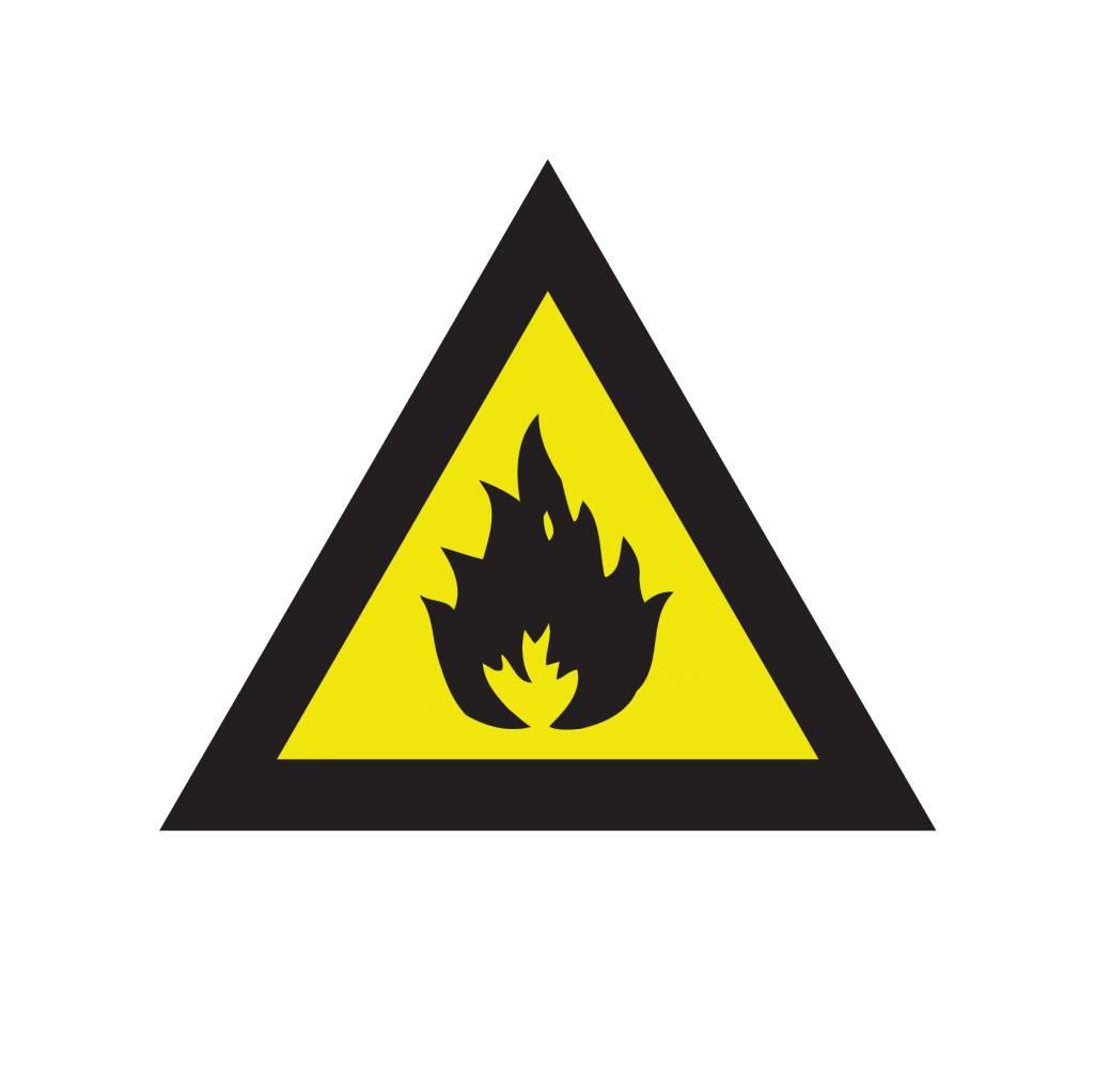 Brandgevaarlijke stoffen sticker