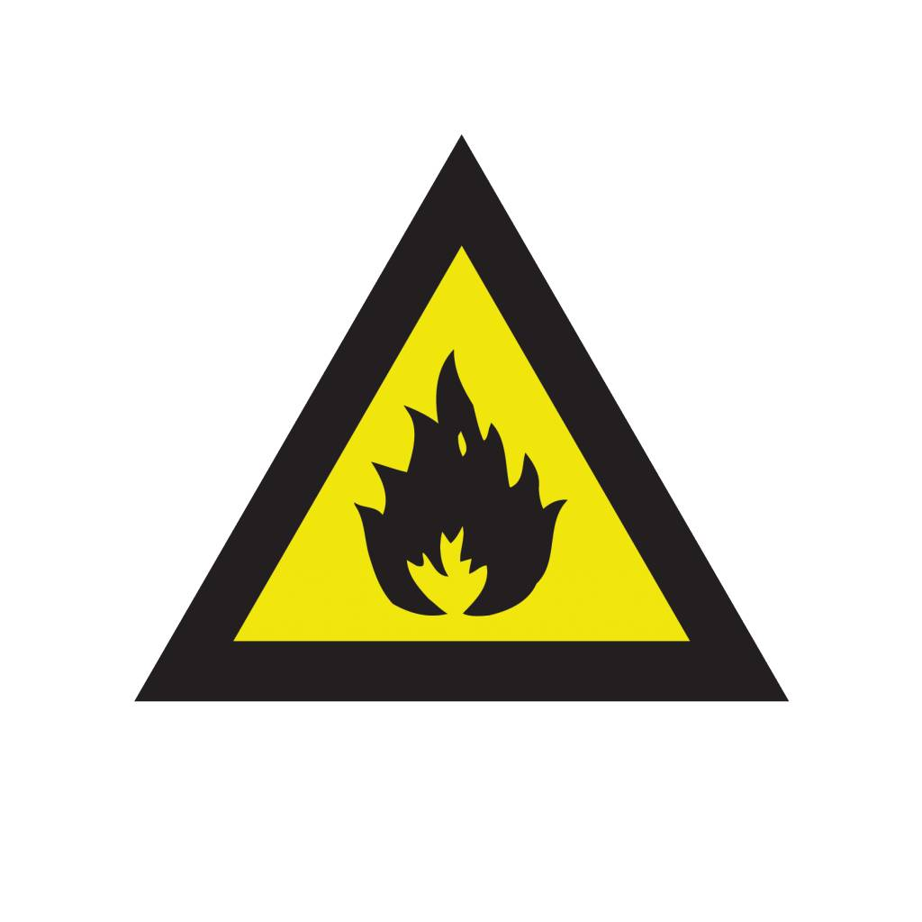 Incendiary substances sticker