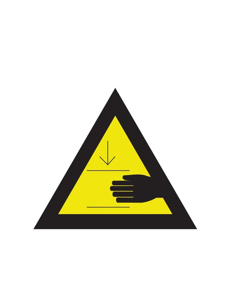 Handen klem komen te zitten sticker