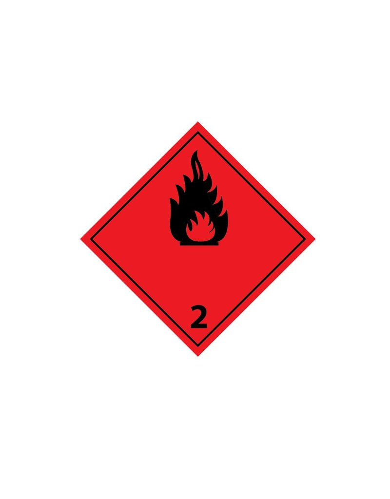 Flammable gases 2 Black Sticker