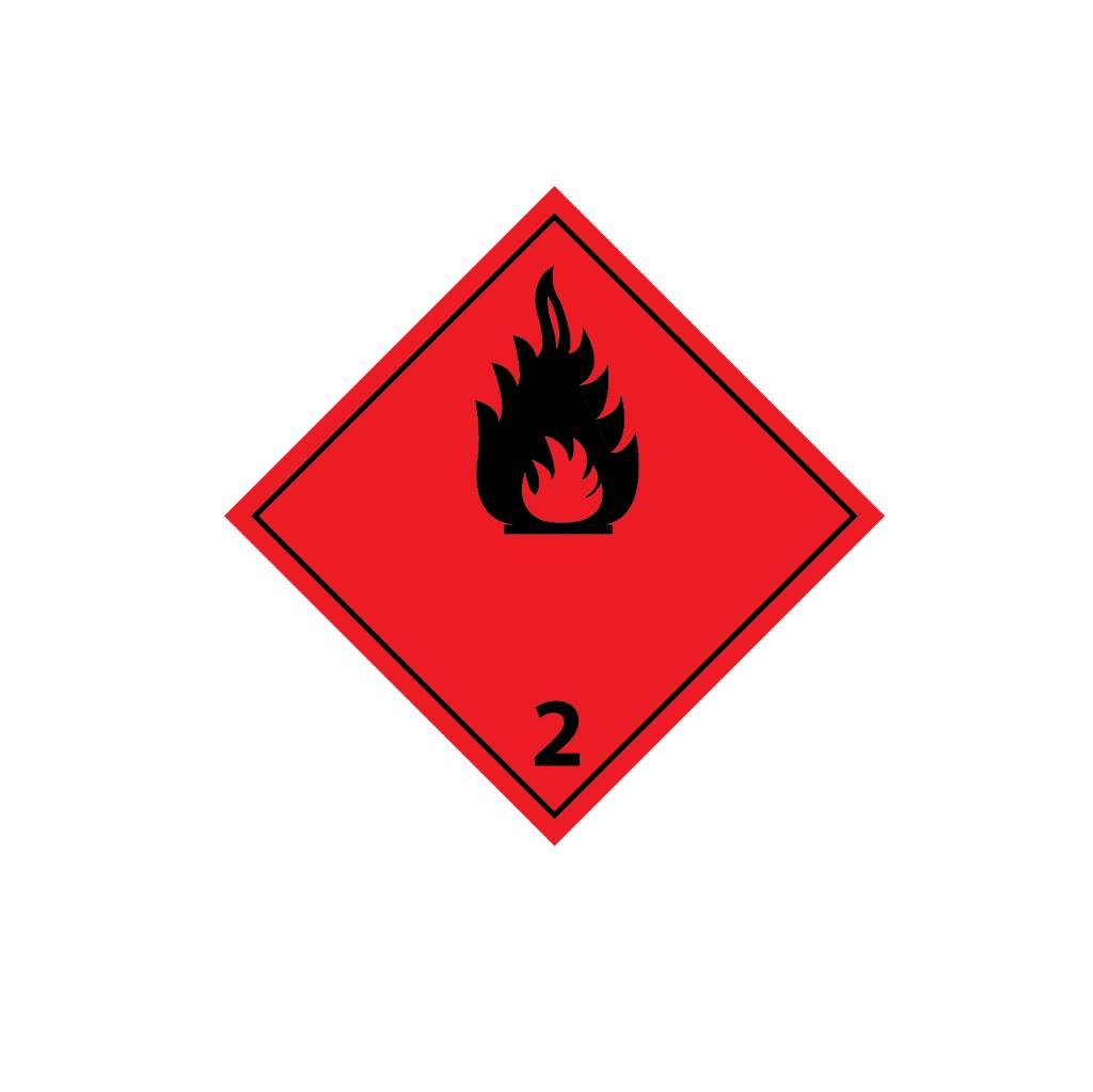 Los gases inflamables 2 negro pegatina