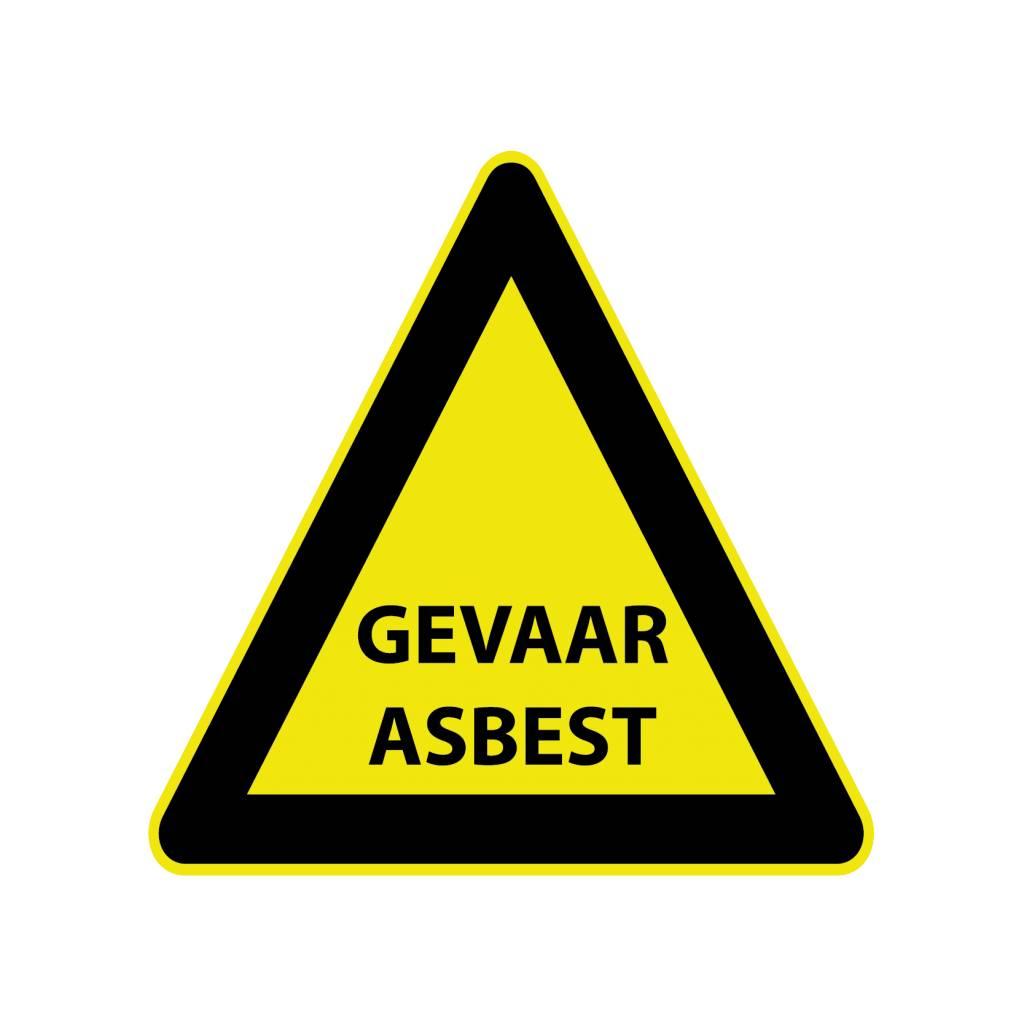 Asbest Gefahr Sticker