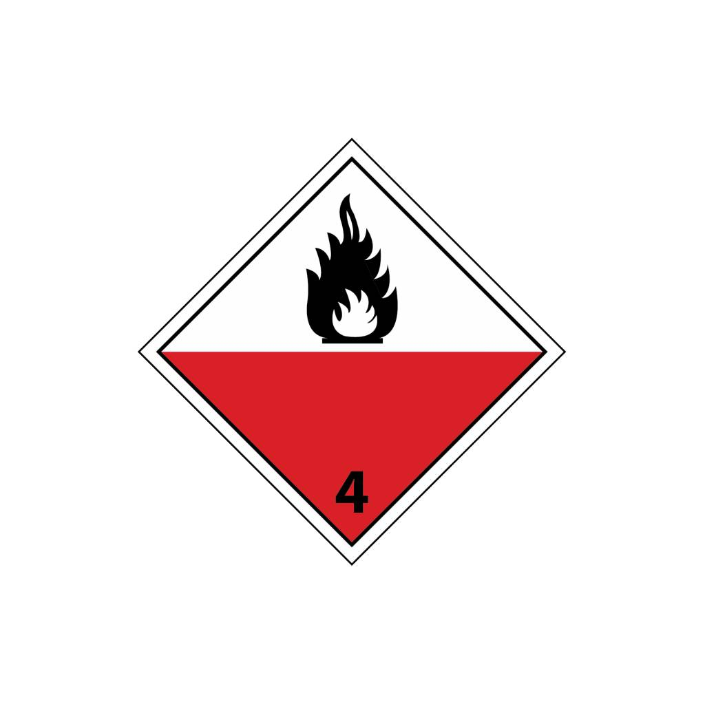 Zelfontbranding vatbare stoffen Sticker