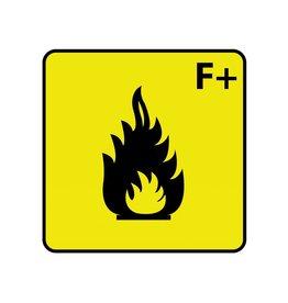 Fácilmente inflamable F+ pegatina